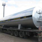 Отгрузка резервуара для хранения жидкой двуокиси углерода РДХ-50,0-2,0
