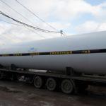 Отгрузка горизонтального резервуара для хранения жидкой двуокиси углерода РДХ-50,0-2,0