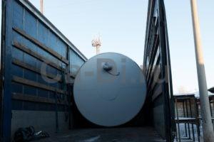 Отгрузка горизонтального резервуара для хранения жидкой двуокиси углерода РДХ-22,5-2,0