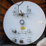 Отгрузка горизонтального резервуара для хранения жидкой двуокиси углерода РДХ-12,5-2,0