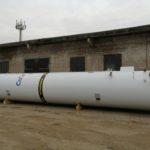 Резервуар для хранения жидкой двуокиси углерода РДХ-30,0-2,0 вертикального типа