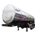 Полуприцеп-цистерна для транспортировки жидкой двуокиси углерода ЦЖУ-21,5